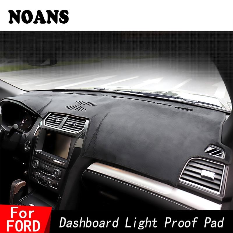 NOANS For Ford Mondeo Focus 2 MK2 MK3 MK4 Focus ST RS High Mach Kuga Dashmat Dashboard Cover Sun Shade Car Styling Accessories