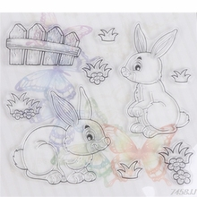 Rabbit Silicone Stamp Cutting Dies Stencil Frame For Scrapbook Album Decor Craft G15 Drop ship