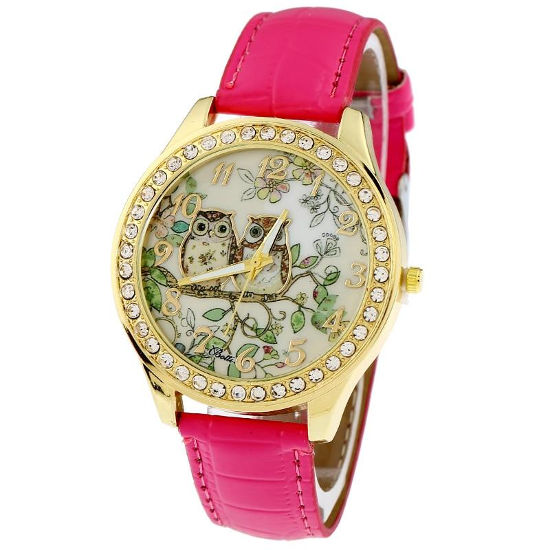 45a49a7a536f Gnova Platinum pu Owl mujer reloj vintage retro mujeres reloj Golden RIM  chica dama estudiantes reloj