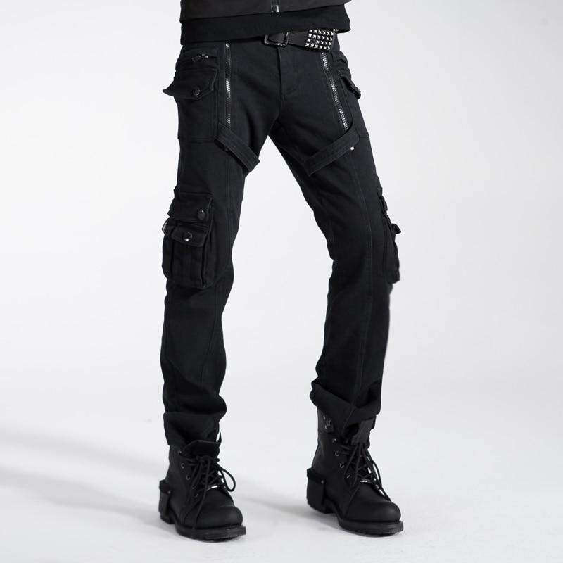 Gothic Punk Rave Kera Mens Cotton Rockabilly Black Hose
