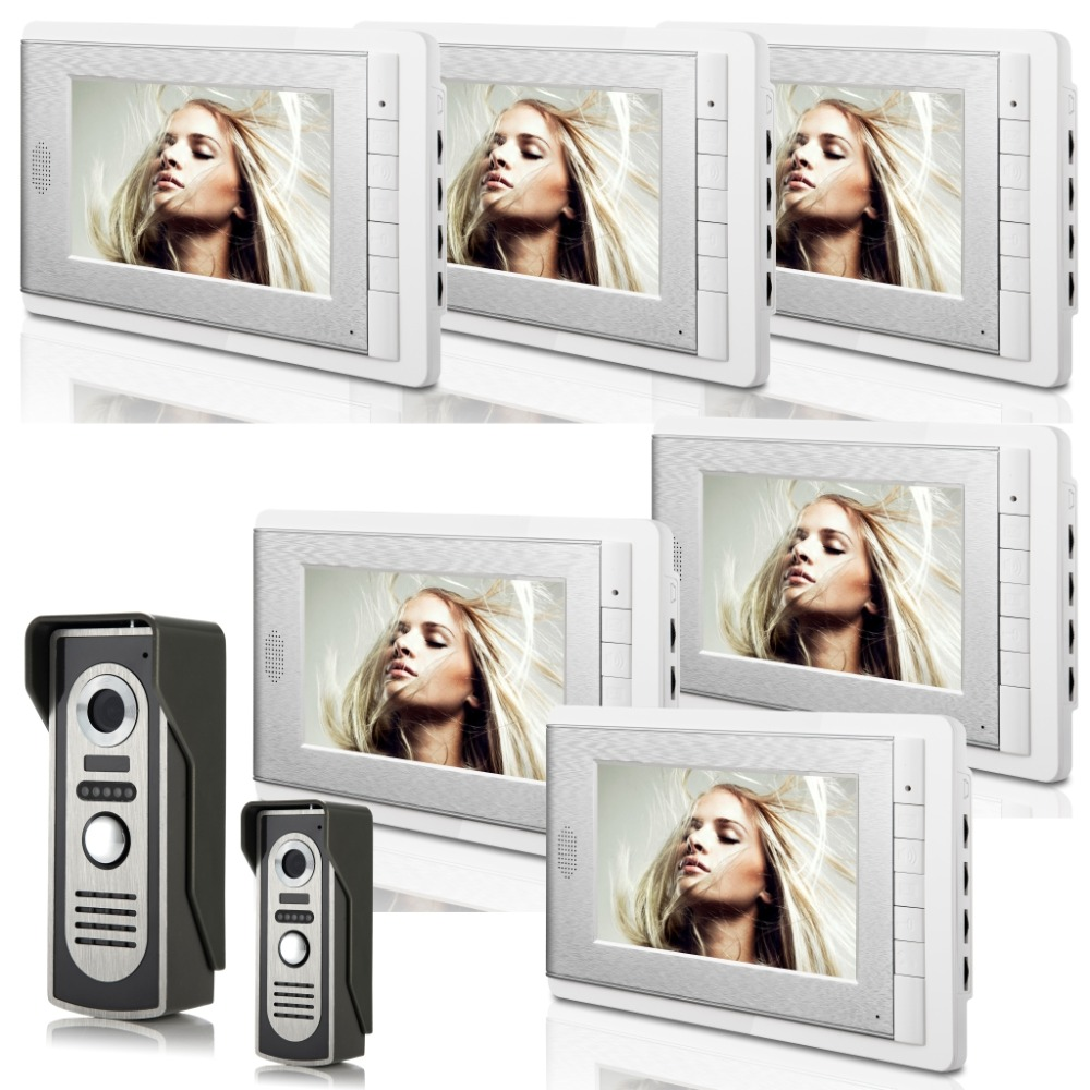 2V6  7 Inch  Monitor Water-Proof IP66 Wired  Video Door phone