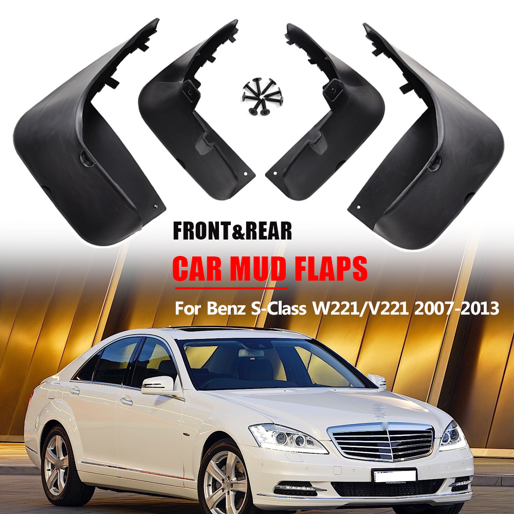 Mud Flaps For Benz S Class S Class W221 2007 2013 Mudflap Splash Guards Front Rear