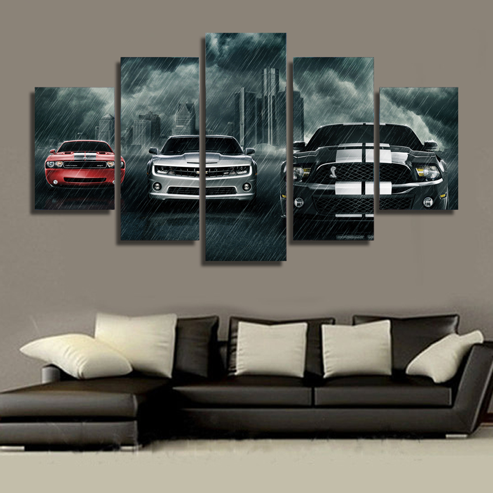 Modular Wall Paintings 2017 Hot Sale Muscle Cars Planet Modern ...