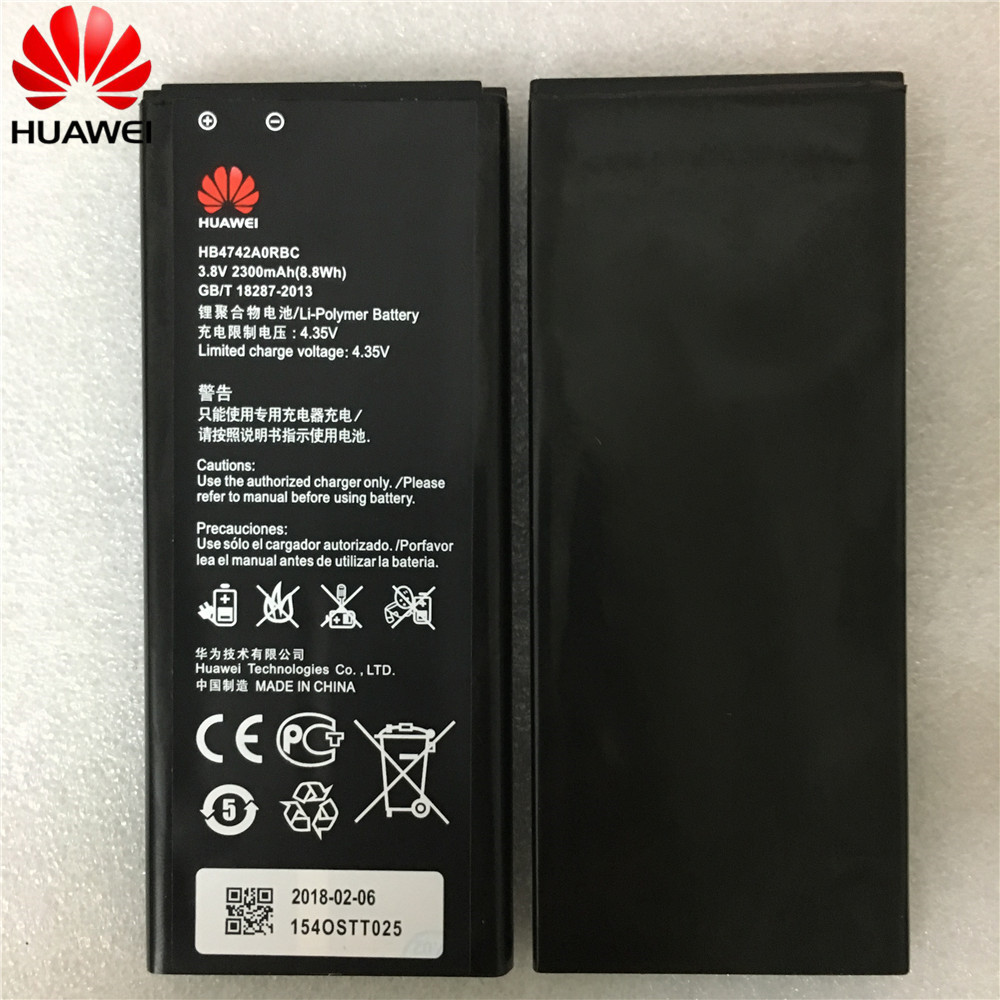 2300mAh HB4742A0RBC HB4742A0RBW Battery For Huawei Honor 3C Battery G730 G740 H30-T00 H30-T10 H30-U10 H30 Phone Battery