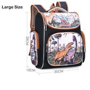 Image 4 - 학교 어린이를위한 새 가방 학교 배낭 소년 3d 동물 공룡 배낭 어린이 satchel 우주 학교 가방 mochila escolar