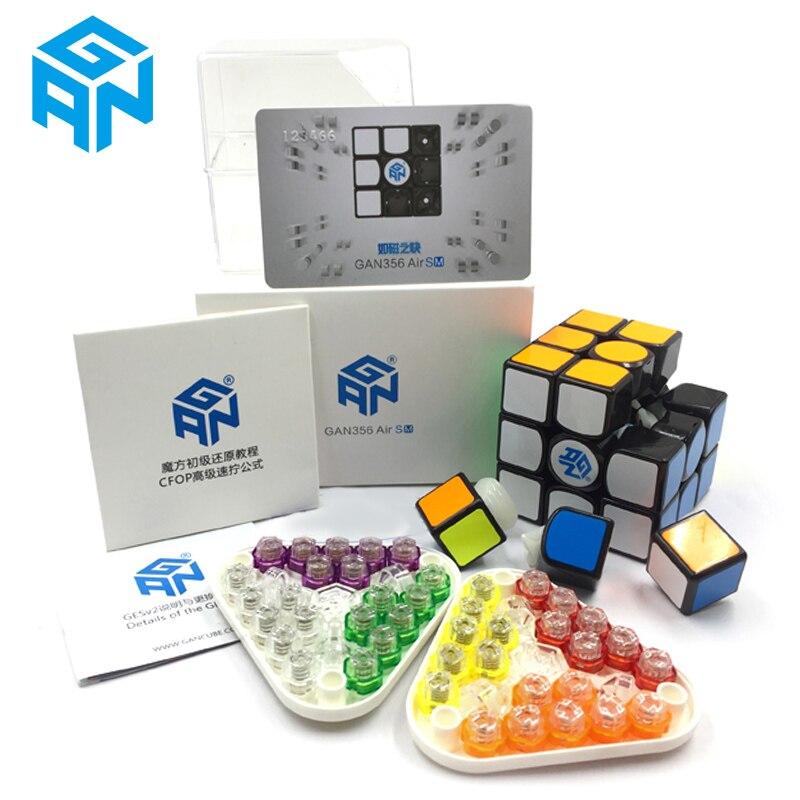 GAN356Air SM Vitesse Cube Avec Aimants Position Super vitesse Magnéto Magique Système GRSv2 Nid D'abeille contacter surface 3x3 Puzzle Cubes