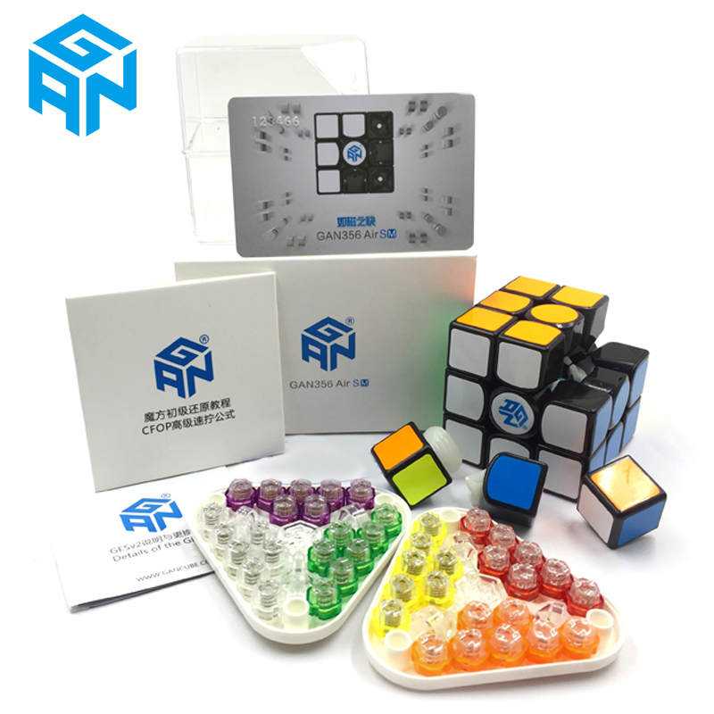 GAN356Air SM vitesse Cube avec aimants Position Super vitesse magnéto système magique GRSv2 nid d'abeille surface de contact 3x3 Puzzle Cubes