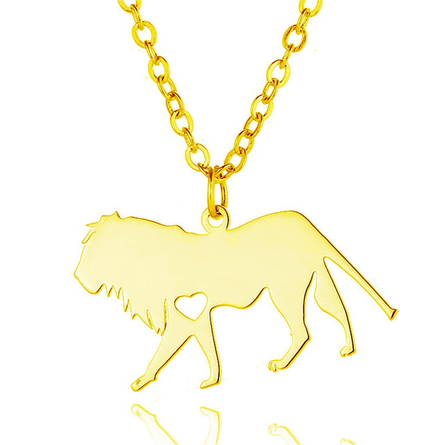 Elfin 2018 trendy stainless steel lion necklace lion pendant elfin 2018 trendy stainless steel lion necklace lion pendant necklace animal jewellery gift aloadofball Choice Image