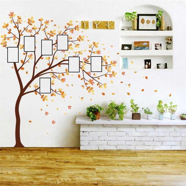家族写真 Diy の写真の木携帯クリエイティブ壁貼付装飾壁のステッカー窓 DecorRoom カールポスター