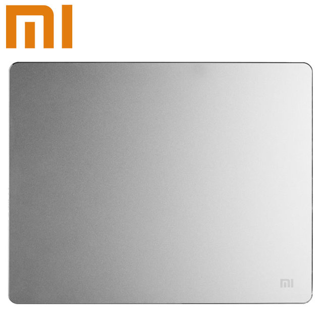 100% original xiaomi metal mouse pad 18*24 cm * 3mm 32*24 cm * 3mm alfombrillas de ratón de la computadora de aluminio de lujo simple delgado frosted mate