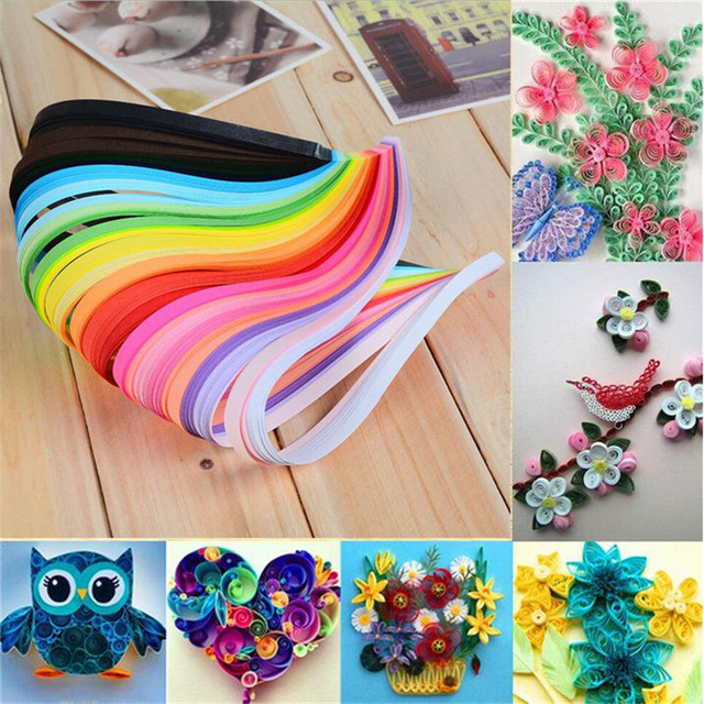 Diy 260 Strips 26 Colors Paper Quilling Craft Scrapbooks Hand Make Decoration Accessories Supplies For