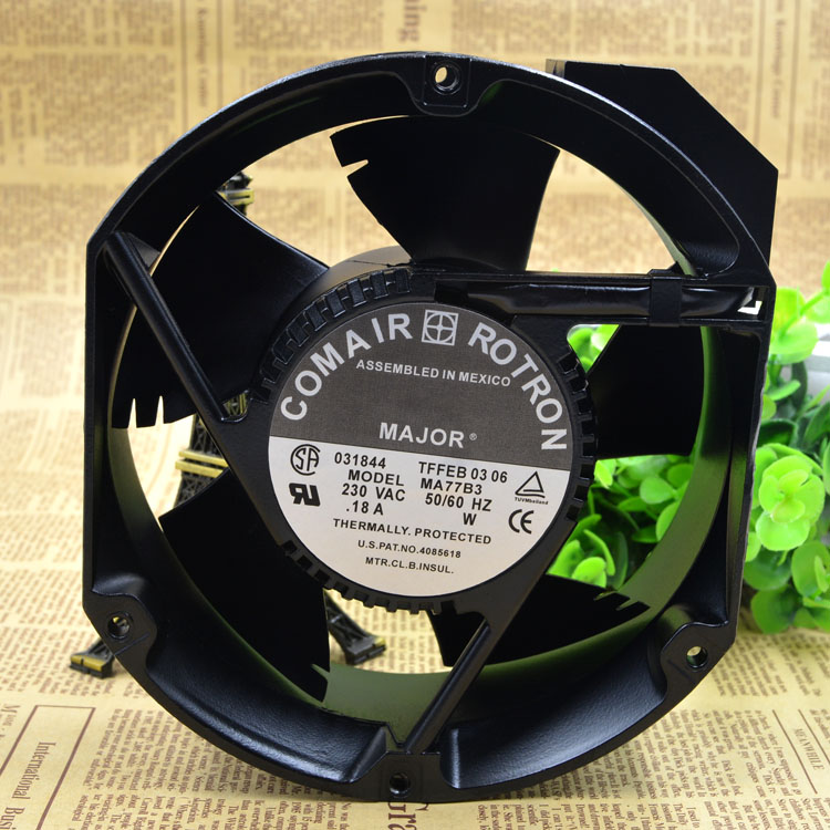 For COMAIR ROTRON MA77B3 Aluminum Frame AC Cooling Fan 230VAC 0.18A 172MMX50MM emacro for comair rotron mr2b3 ac 115v 31w 172x150x51mm server round fan