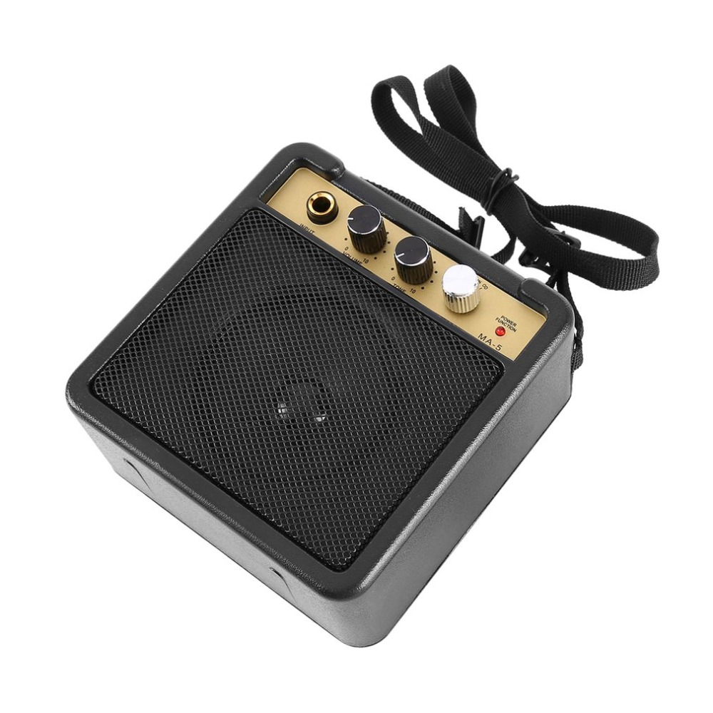 Mini Guitar Amplifier Guitar Amp With Back Clip Speaker Guitar Accessories For Acoustic Electric Guitar E-WAVE
