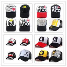 Новая мужская и женская модная шляпа с сеткой Кепка snapback