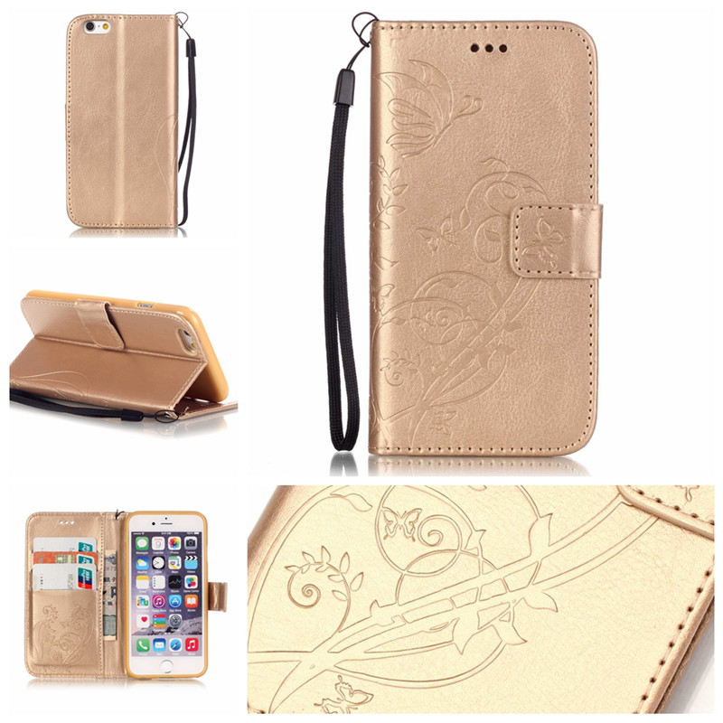 For Iphone 7 4.7Inch 4 4S 5 5S 5C SE <font><b>6</b></font> 6S <font><b>6</b></font> Plus for Ipod Touch 5/<font><b>6</b></font> <font><b>Case</b></font> TPU Leather Back Cover Butterfly Flip Wallet <font><b>Phone</b></font> Bag