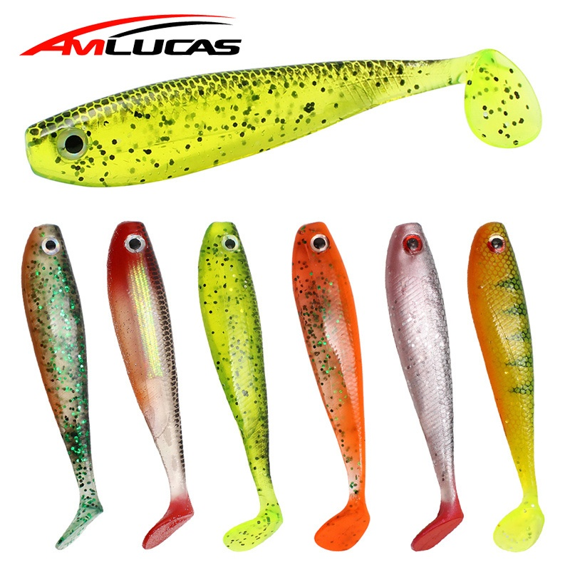 3.75 inches Silicone mold for DIY soft bait lure with eyes and scales 9.5 cm