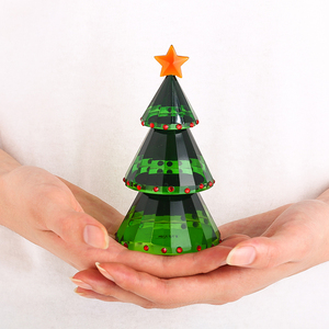 Image 5 - H&D Green Crystal Glass Christmas Tree Holiday Figurine with Gift Box Handmade Collectible Gift Craft for Christmas Day