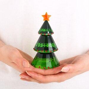 Image 5 - H & dグリーンクリスタルガラスクリスマスの置物ギフトボックス手作りグッズギフトクラフトクリスマスの日