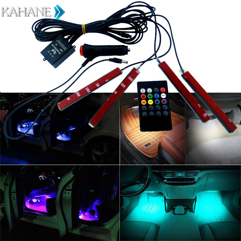Interior Accessories Car Rgb Led Strip Light Music Control