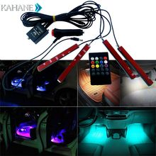 Interior Accessories Car RGB LED Strip Light Music Control LED lights 8 Colors Car Styling Atmosphere Lamps Light with Remote