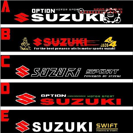 Free shipping automobile label car racing stickers for suzuki front windshield stickers for front window on aliexpress com alibaba group
