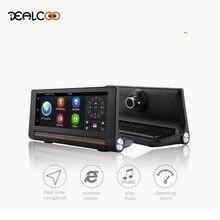 Новый 7 «IPS 3 г WiFi Автомобильный видеорегистратор камеры Android 5.0 gps-навигация видеомагнитофон bluetooth два объектива видеокамеры регистраторы Full HD 1080 P