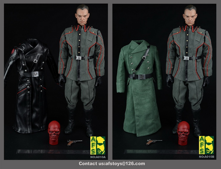 Afs Captain America Hydra Red Skull Suit A010a Leather Coat Edition/ A010b Overcoat Edition For 12collectible Action Figure Diy Action & Toy Figures