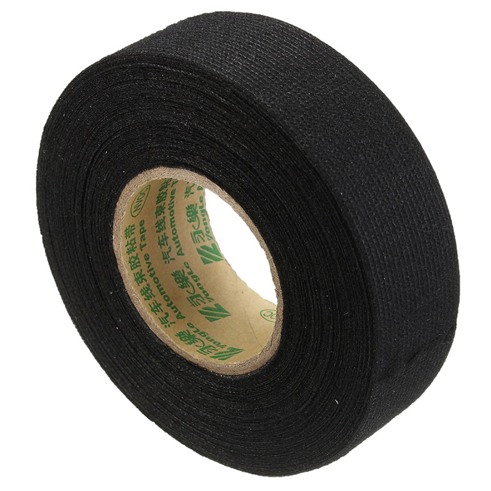 Insulating Fabric Cloth Tape 15m X 25mm Adhesive Wiring Harness High Temperature Glue Automotive