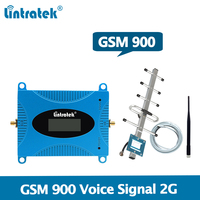 Lintratek GSM Repeater 900MHz Signal Booster GSM 900 Amplifier Mobile Phone Repeater 2G Voice Signal Booster full kit @5
