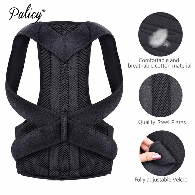 Posture Corrector Back Support Belt Men Orthopedic Posture Corset Lumbar Spine Brace  Back Straightener Round Shoulder Waistcoat