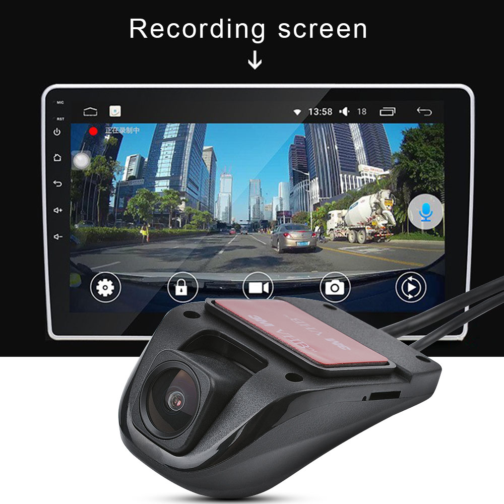 Image 2 - AOSHIKE Mini Car Dual DVR Dash Camera USB Camera For Android Car HD 140 Degrees Driving Recorder Night Vision Vehicle Camera-in Vehicle Camera from Automobiles & Motorcycles
