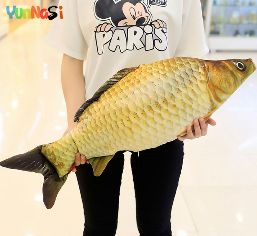 YunNasi 3D Carp Pillow Soft Cushion Simulation Stuffed Dolls Small Fish Squishy Kids Toys For Children Gifts Girls Creative Toys
