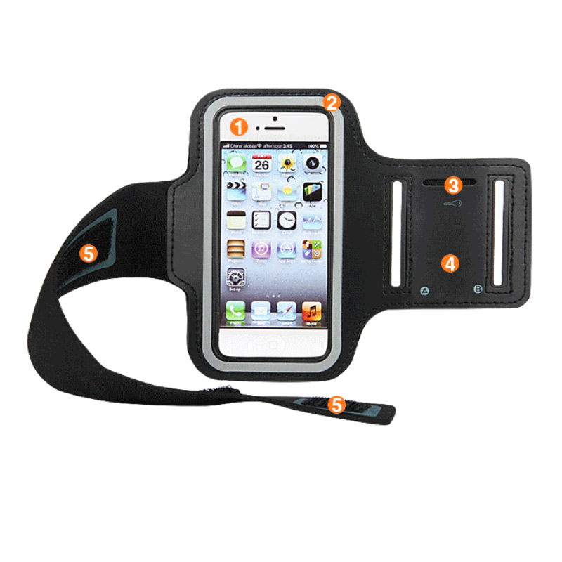Sport Arm Bag Pack Armband Package Holder Outdoor Running Cycling Sports Breathable For Mobile Phone BB55