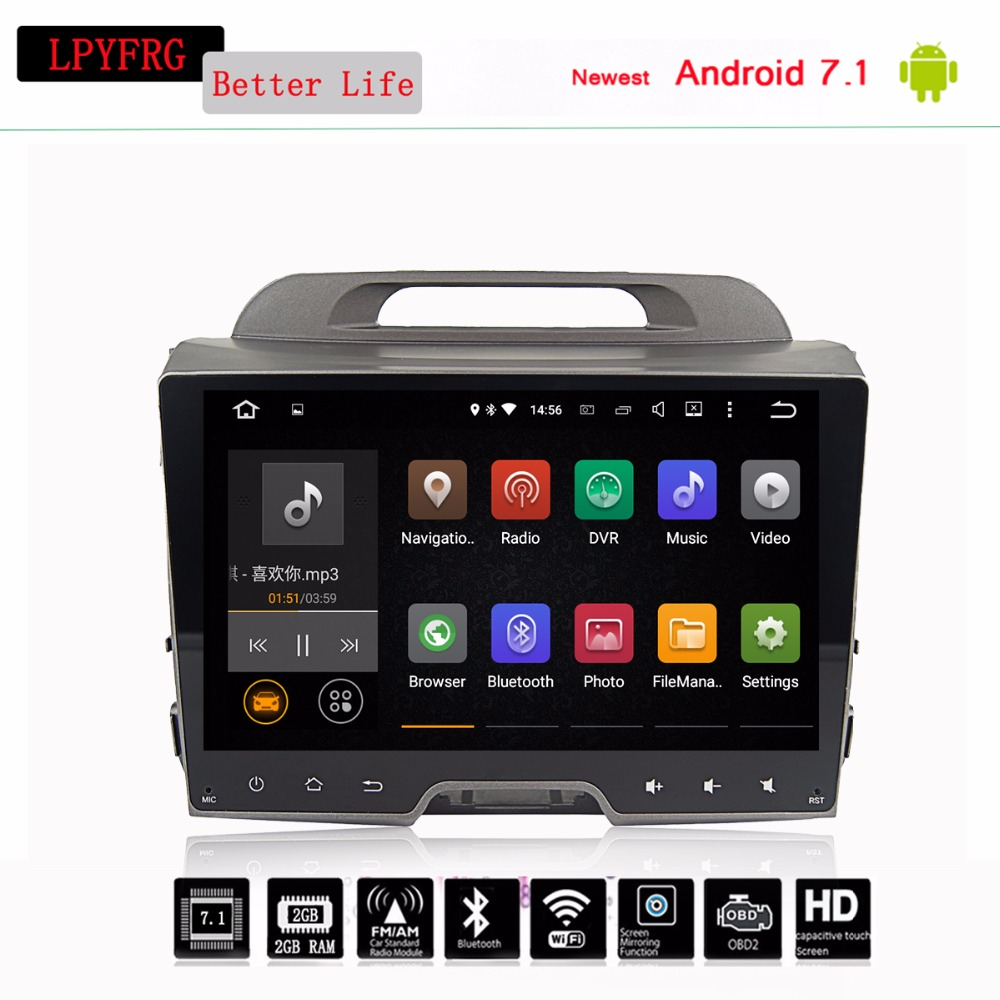 "9"" Android 7.1 Car Radio KIA Sportage R 2011 2012 2013"