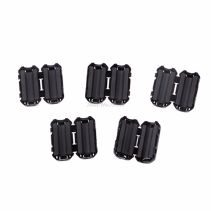 5 Pcs 5mm Clip-On Ferrite Ring Core Noise Suppressor For EMI RFI Clip Cable Active Components Filters