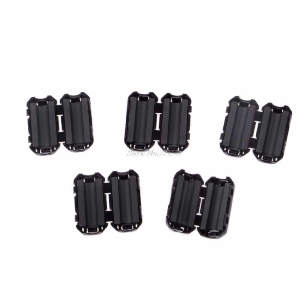 on Noise Ferrite Core Ring Bead Filter RFI EMI Cable cliwtm 2pcs Black 5mm Clip