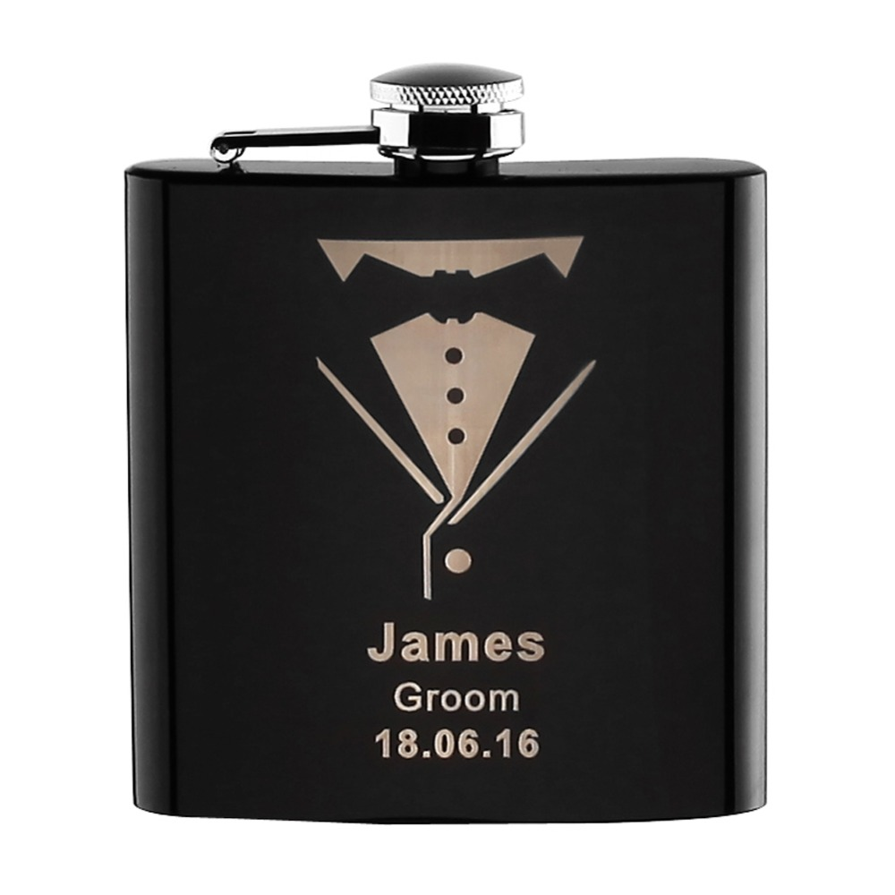 Personalized Engraved 6oz Hip Flask Stainless Steel ...