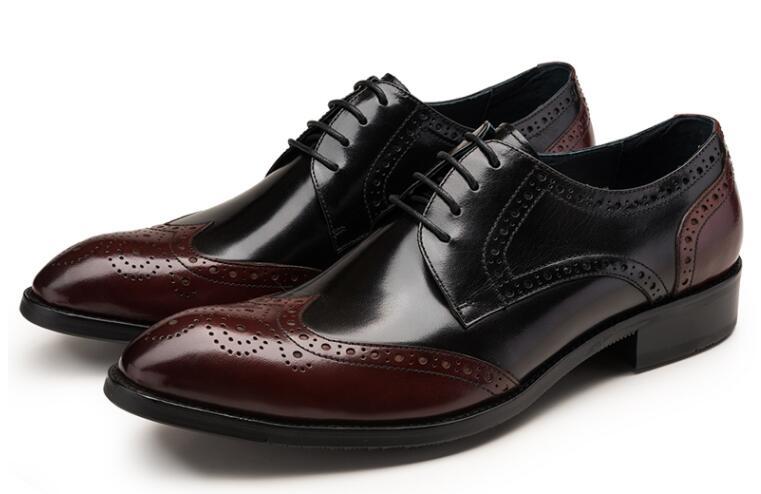 Tallada La Fiesta Zapatos Hasta Casual Aumento Cuero Brogue Color Elegante Vintage Pic De As Genuino Altura Mezcla Vestir Hombres Encaje pxnC7wfz