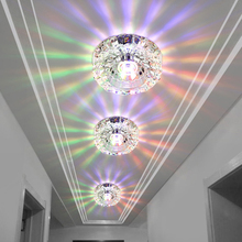 3W Aisle LED ceiling lamp living room crystal corridor aisle lights LED Ceiling Lights Luces de techo