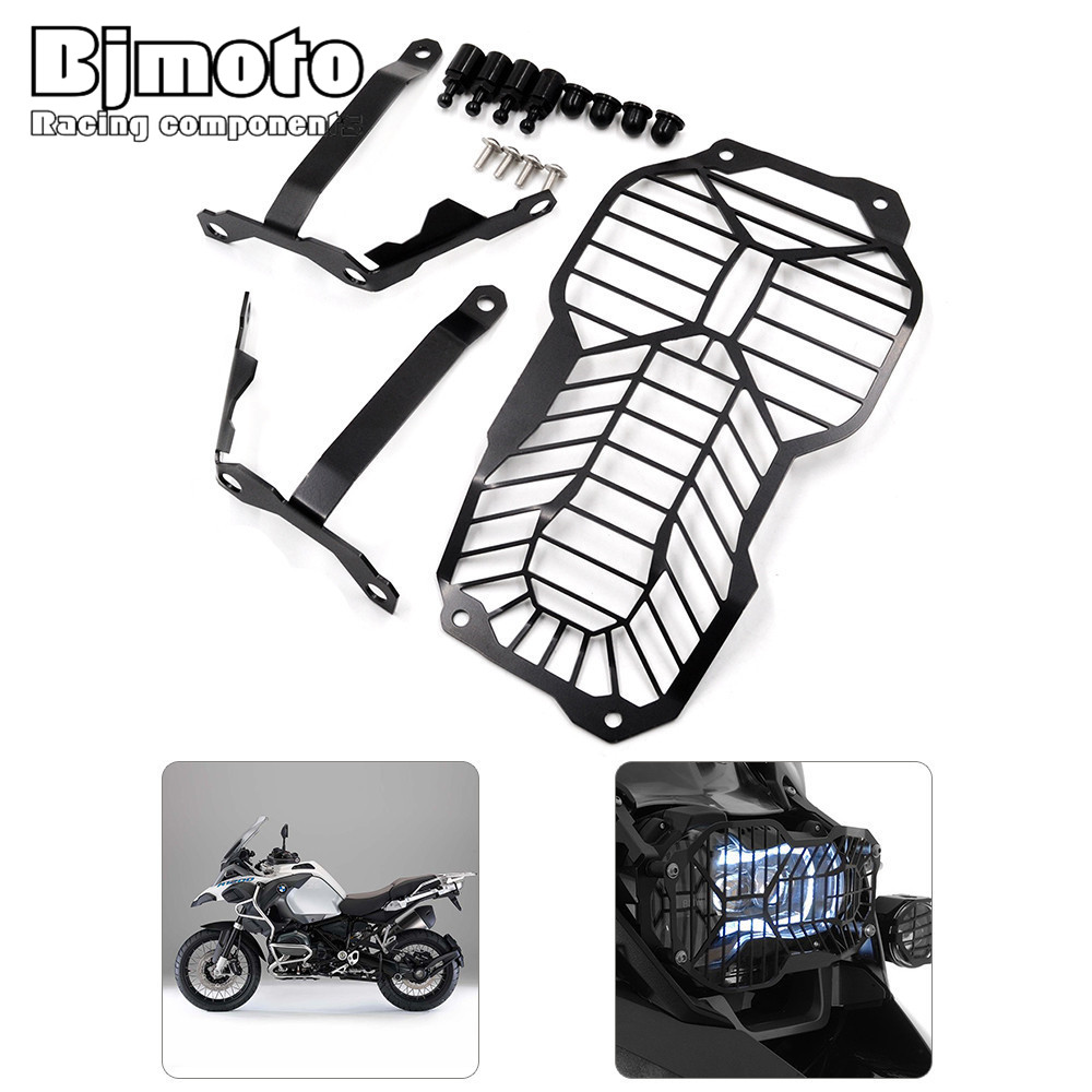 BJMOTO New Motorcycle Headlight Lamp Grill Guard Cover Protector For BMW R1200GS Water Cooled models 2013-2016 R1200GS Adventure