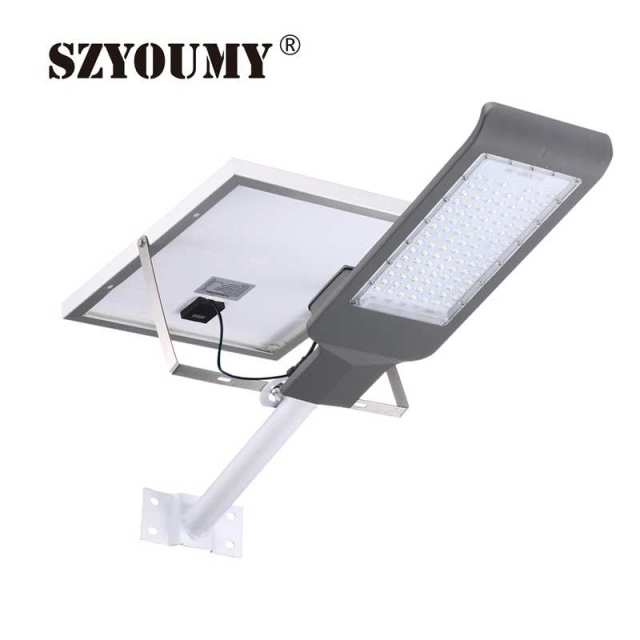 SZYOUMY Free ship TO Puerto Rico NEW Solar Led Street Light Floodlight 50W 100W 3030 LED IP65 Outdoor Solar Lamp Flood Light