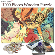 MOMEMO Naruto and Tailed Beasts Wooden Jigsaw Puzzles 1000 Pieces Adult Cartoon Anime Puzzle NARUTO Games for Kids