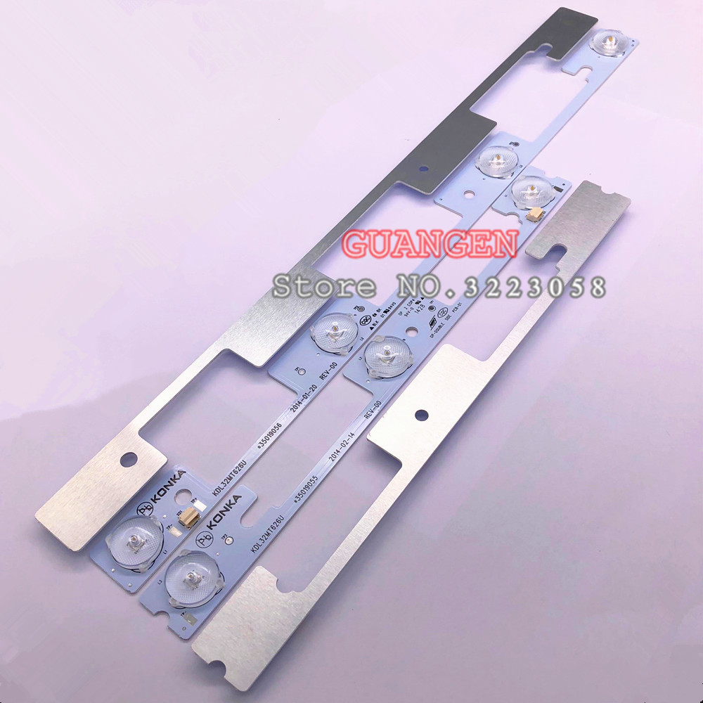 200p original for Konka KDL32MT626U 100pcs 4LED 100pcs 3LED 35019055 35019056 bar light 32 inch backlight