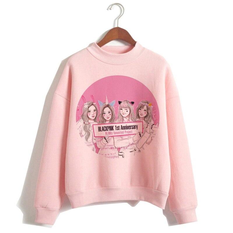 Blackpink Hoodies Women In Your Area New 90s Harajuku Winter Kill This Love Autumn Ullzang Cartoon Female Sweatshirt Hoody