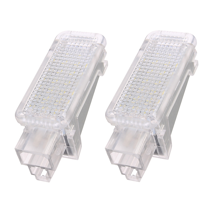 2x 12V Car LED Courtesy Door  Projector Light For Audi A3/A4/A6/VW/Skoda Foot Nest Lights Ghost Shadow Light Lamp 6500K White|light tester|light bulb lumens watts|light reflector - title=