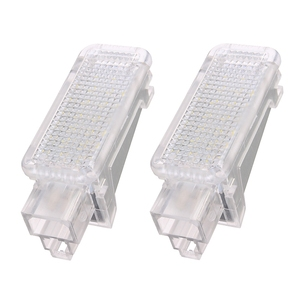 2x 12V Car LED Courtesy Door Projector Light For Audi A3/A4/A6/VW/Skoda Foot Nest Lights Ghost Shadow Light Lamp 6500K White(China)