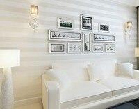 Moda de alta Qualidade Rolo De Papel de parede Listrado Papel De Parede Cobrindo Brilho Não-tecido de Fundo papel de Parede Papel De Parede para Sala de estar 10 M