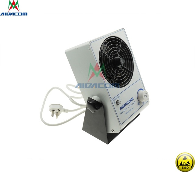 Free Shipping Ionizing Air Blower Desktop Fan ESD Antistatic Air Ionizer with ESD Clothing Antistatic Glove and other items Work