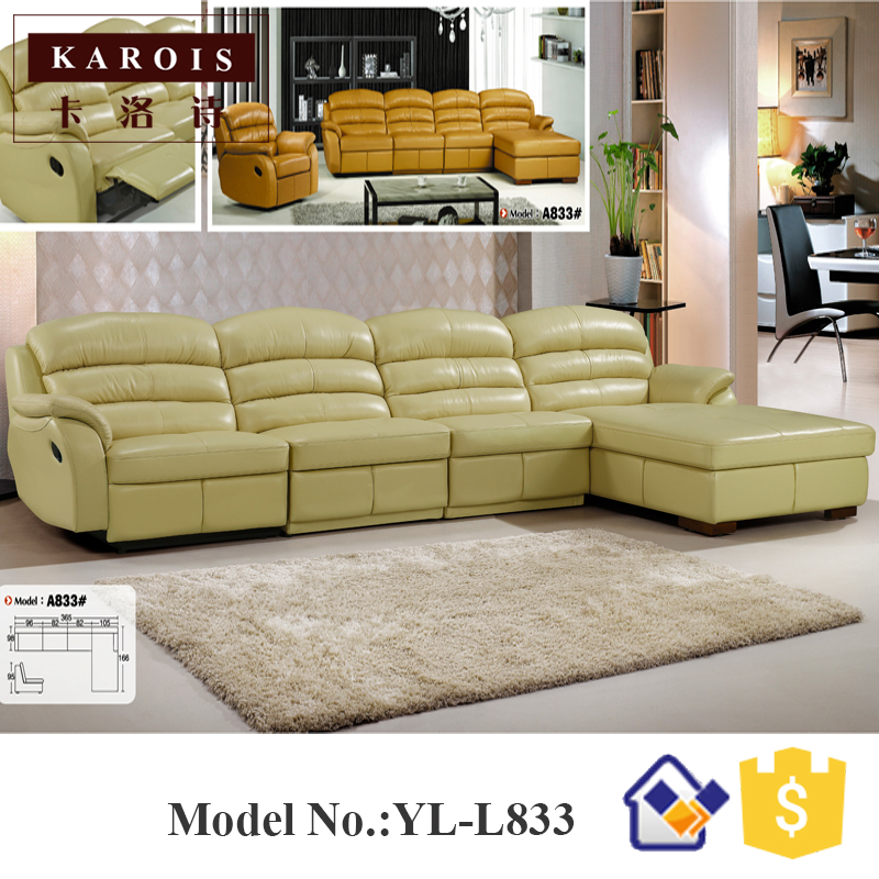 fashion leather sofa genuine modern recliner leather sectional sofa