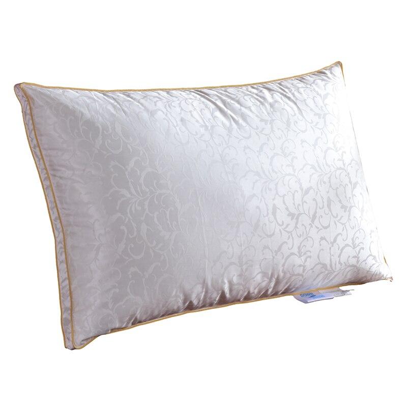 TUTUBIRD oreiller en duvet d'oie/tête de couchage literie oreiller remplissage avec soie + coton couverture taille européenne/USA/russe livraison gratuite